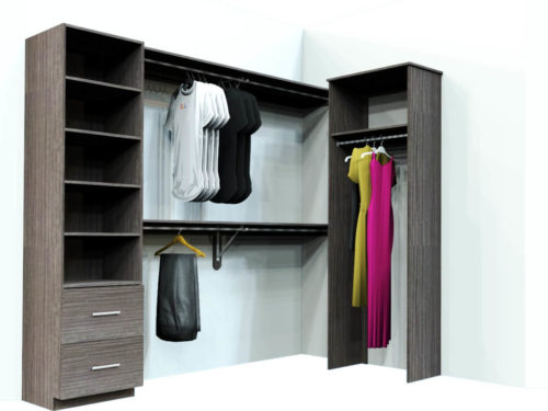 TEXTURED MELAMINE CLOSETS